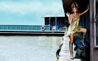 Chic Mädchen Beyonce.