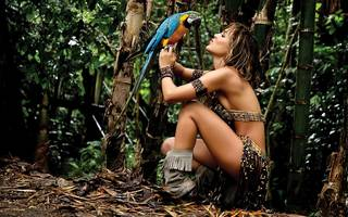 Hermosa chica Amazon.