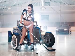 Frau Eishockeyspieler.