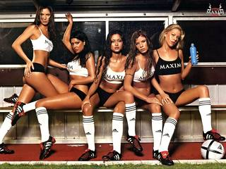 Cool photo of female football team